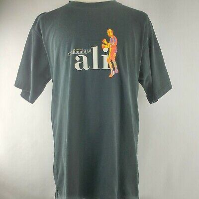 Mohamed Ali Black Shirt Size Large Boxing Heavy Weight Champion of the World P2 for sale  Universal City