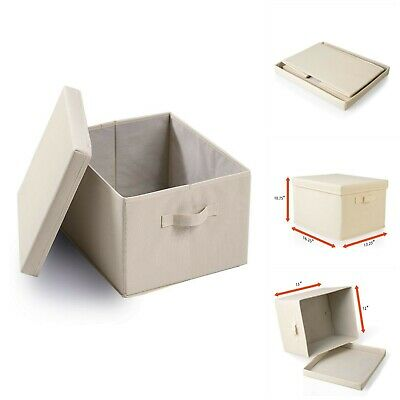 Collapsible File Storage Linen Filing Organizer Office School Supplies Boxes -