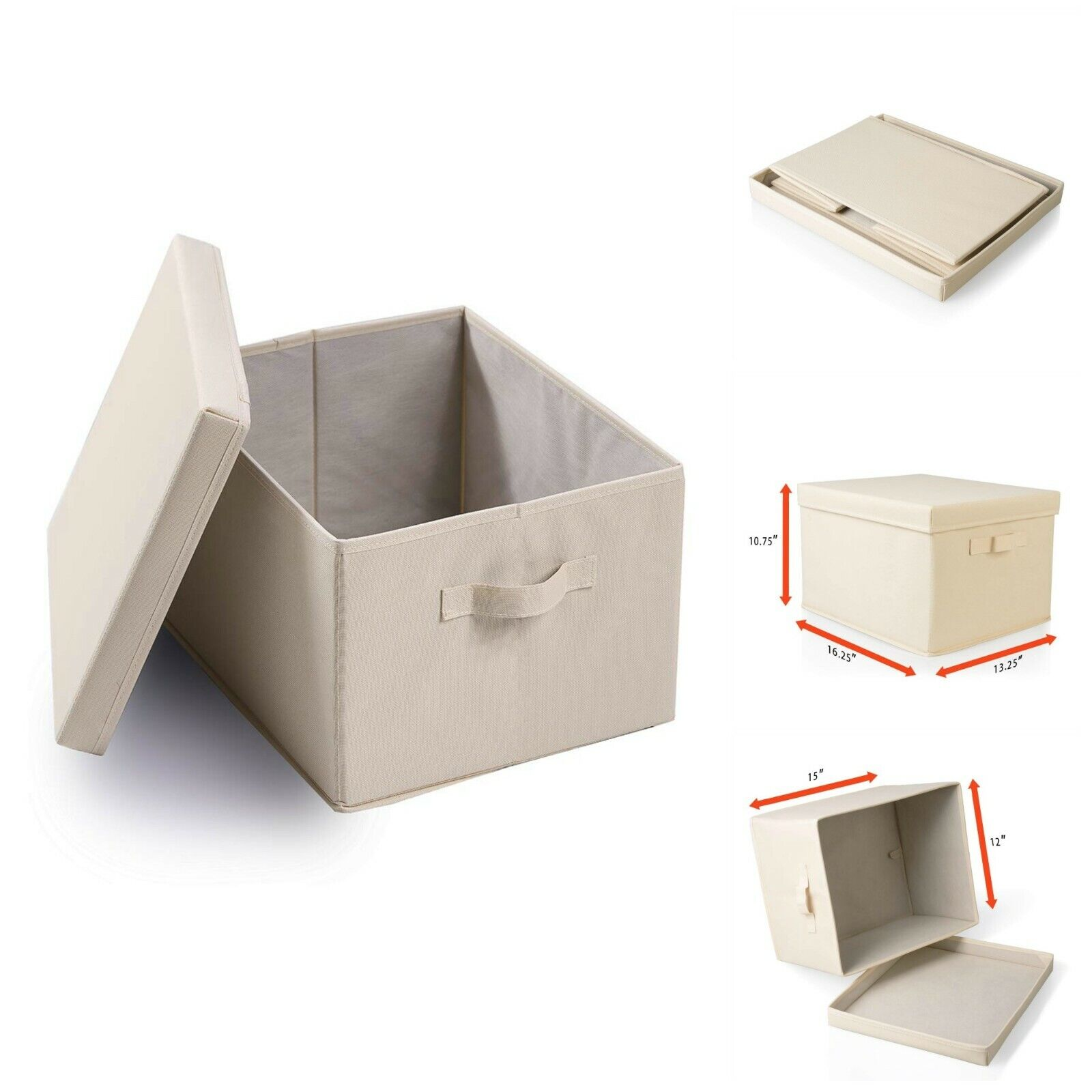 Collapsible File Storage Linen Filing Organizer Office Schoo