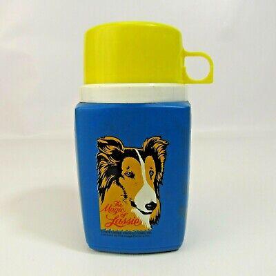 Vintage Magic of Lassie Plastic Thermos Yellow 1978 Collie Dog