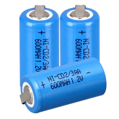 Blau 2 ~ 36pcs Ni-Cd 1.2V 2 / 3AA 600mAh Akku NiCd Wiederaufladbare Batterien