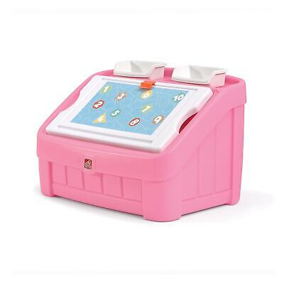 Photo Step2 2-in-1 Toy Box & Art Lid   Plastic Toy & Art Storage Container