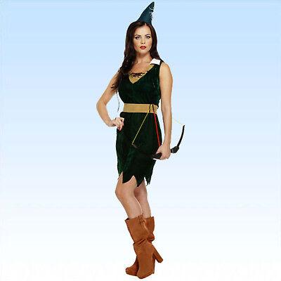 Samt Kostüm Jägerin Gr. 38/40 Jäger Frau Damenkostüm Robin Hood - Jägerin Kostüm Damen