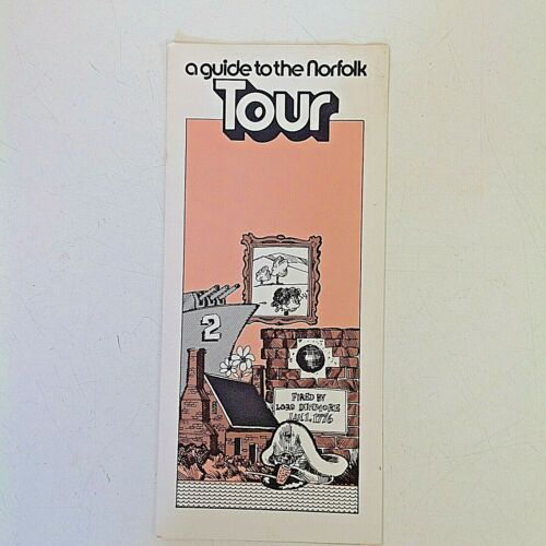 Vintage 1977 Visitors A Guide to the Norfolk Tour Souvenir Brochure Virginia VA