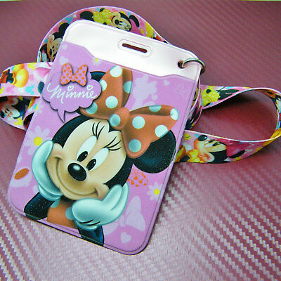 Disney Character Minnie Mouse Lanyard Neck Strap ID Holder