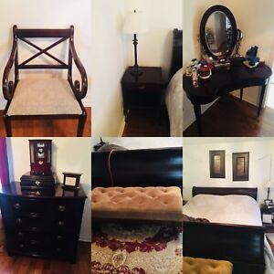 Complete king size bedroom set