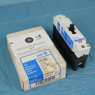 Westinghouse 50A 1-POLE Industrial Circuit Breaker Thermal Magnetic USA made NOS ()