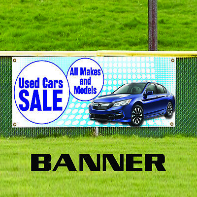 Used Cars On Sale All Makes And Models Business Advertising Vinyl Banner Sign