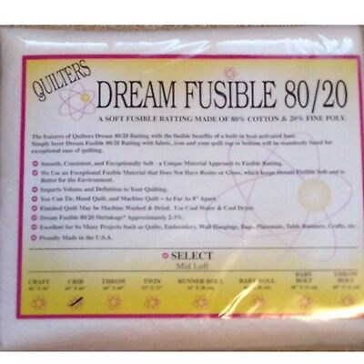 Quilters Dream Crib Fusible 80/20 Blend Select Quilt Batting 60