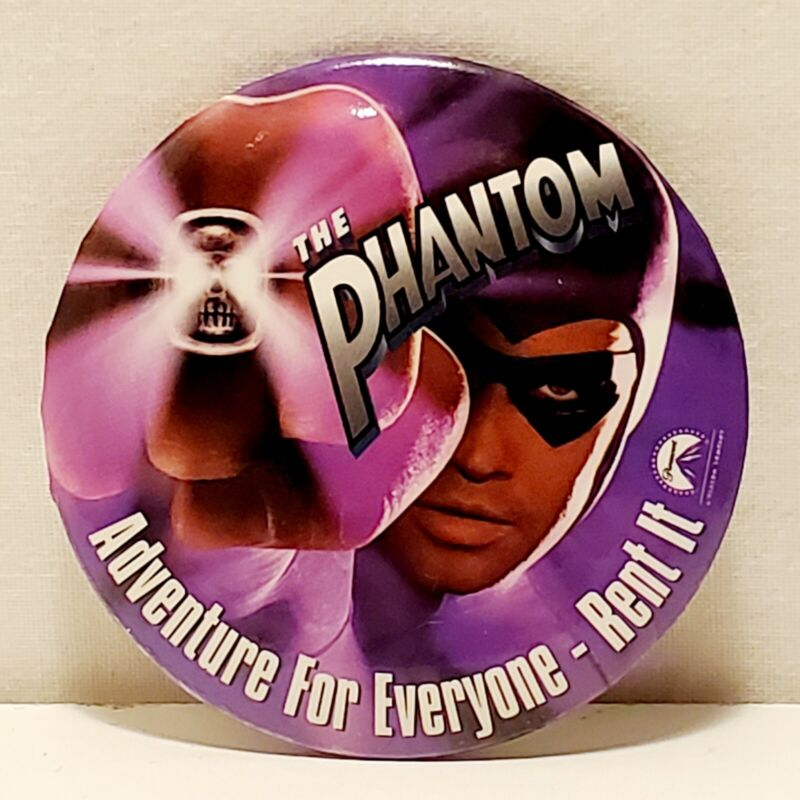 1996 The Phantom  Video Release Promotional Button Paramount Pictures