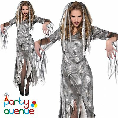 Womens Halloween Zombie Bride Ladies Fancy Dress Costume Outfit  Plus Size 18-20 - Plus Size Womens Zombie Costume