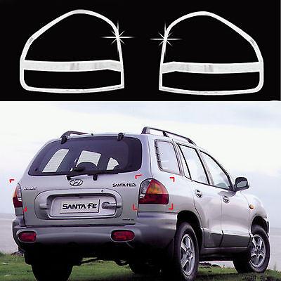 2544ba8f9103b Chrome Rear Tail Light Lamp Molding Trim Cover for 01-04 Hyundai Santa Fe