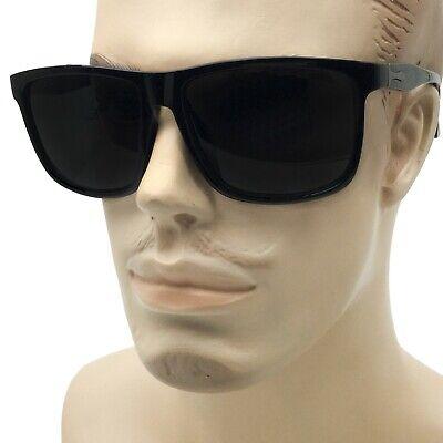 XXL Men's Thin Frame Sunglasses Extra Wide Frame Black Large Oversized Dark (Large Frame Male)