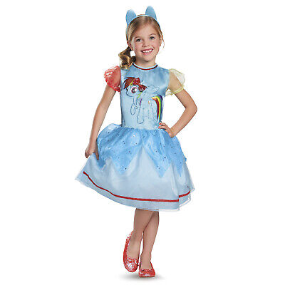 Rainbow Dash My Little Pony Costume (Kids Girls Classic My Little Pony Rainbow Dash Halloween Costume Dress)