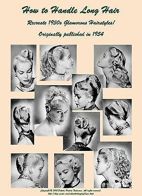 1950s ATOMIC Hairstyle Book Create 50s Long Hairstyles Sock Hop Sweet 16 Hairdos