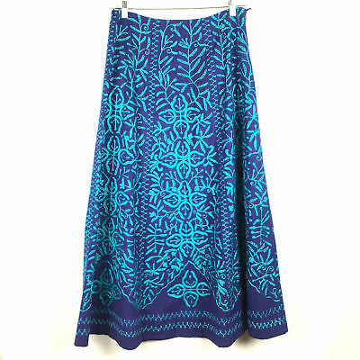 SOFT SURROUNDINGS ~ EMBROIDERED MAXI SKIRT ~ M ~ BOHO ~ SPRING / SUMMER STYLE!!! Spring Embroidered Skirt