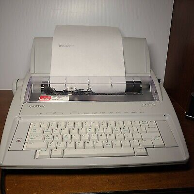 Brother Electric Gx-6750 Electronic Typewriter Excellent Condition New Ribbon