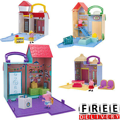 Peppa Pig Set (Peppa Pig Playset Playtime Set Young Girls Boys Toy)