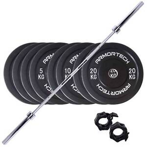 New Armortech 100kg Bar and Bumper Package