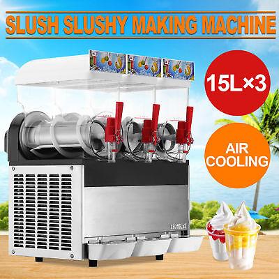3 Tank Snow Frozen Drink Slush Making Machine Commercial Slush Smoothie Maker