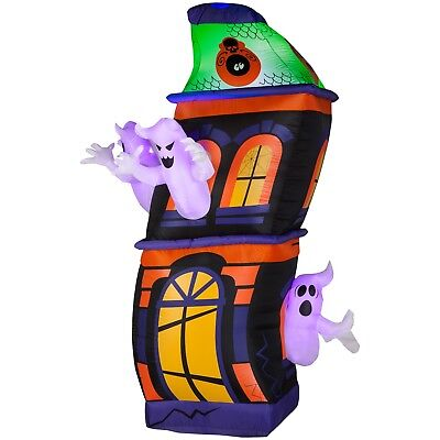 Haunted Ghost House Airblown Inflatable Halloween Yard Decor 8ft Gemmy - Halloween Yard Haunt