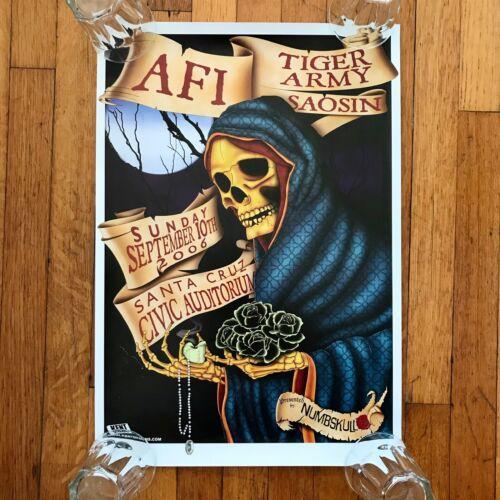 AFI / TIGER ARMY Concert Tour POSTER! 9/10/2006 Santa Cruz GLOSSY 13.5x19.5 GIG
