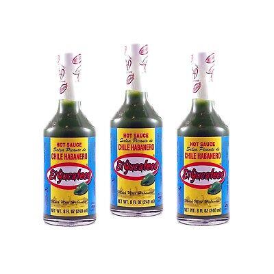 Green Habanero Sauce - El Yucateco Green Habanero Hot Sauce 8 oz. (3-Pack)