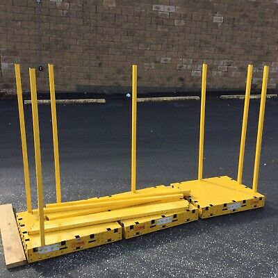 Lot Of 3 Saw Trax Heavy Duty 1000 Lb Load Capacity Yel-low Safety Dolly Dollies