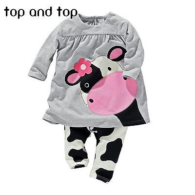 new winter hot sale baby girl clothe casual long-sleeved T-shirt Pants suit (Girls Winter Clothes Sale)