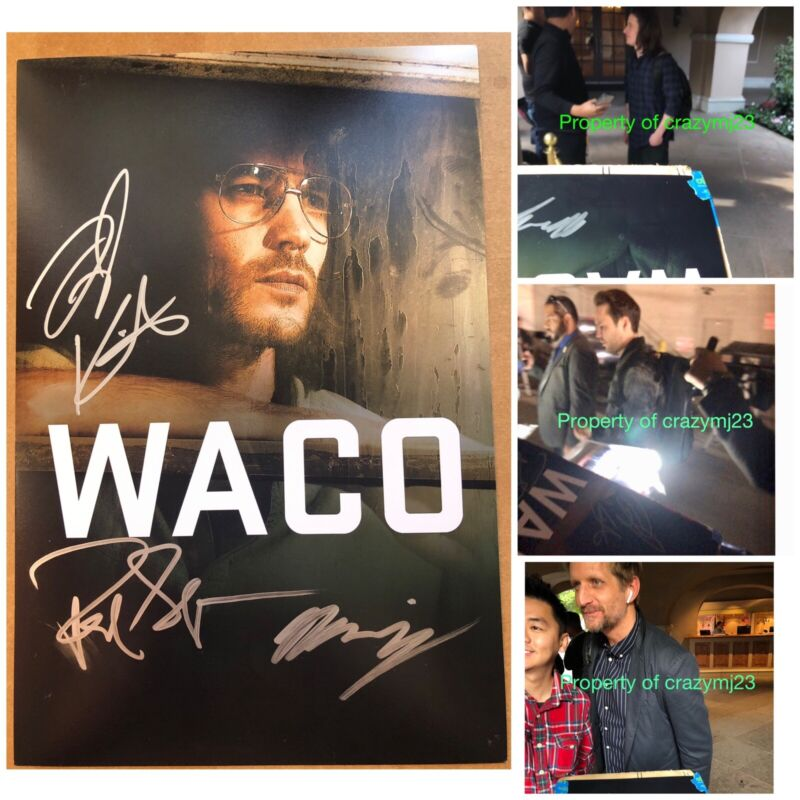 3 Signed Waco Taylor Kitsch Paul Sparks Rory Culkin Autograph Auto Exact Proof