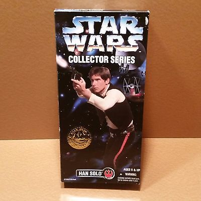 """Star Wars Collector Series Han Solo 12"""" Figure #27725 MIB Kenner 1996 Poseable"""