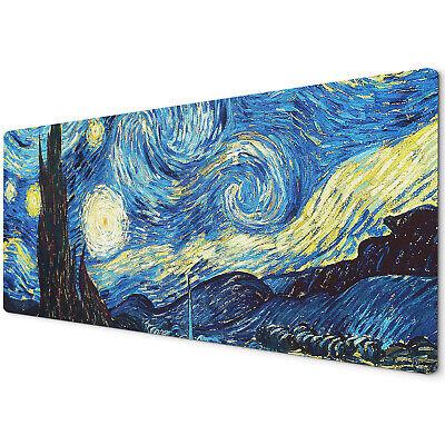 60 X 30cm Extra Large Xl Desk Mouse Pad Mat Gaming Van Gogh Starry Night