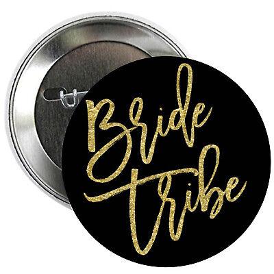 Bachelorette Party Buttons (Bride Tribe SET OF PINBACK BUTTONS team pins wedding bachelorette party )