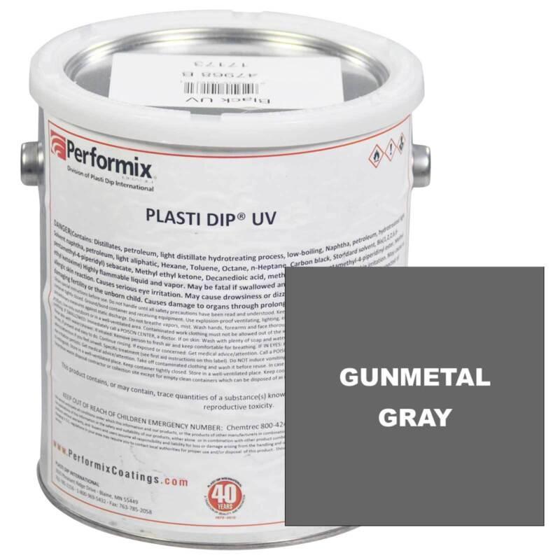 Plasti Dip, 1 Gallon Can, UV Concentrate (unthinned), Matte - GUNMETAL GRAY