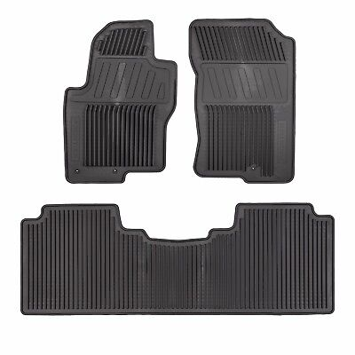 2012 2018 Nissan Frontier All Season Rubber Slush Floor Mats Set GENUINE OEM NEW