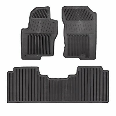2012-2018 Nissan Frontier All Season Rubber Slush Floor Mats Set GENUINE OEM NEW