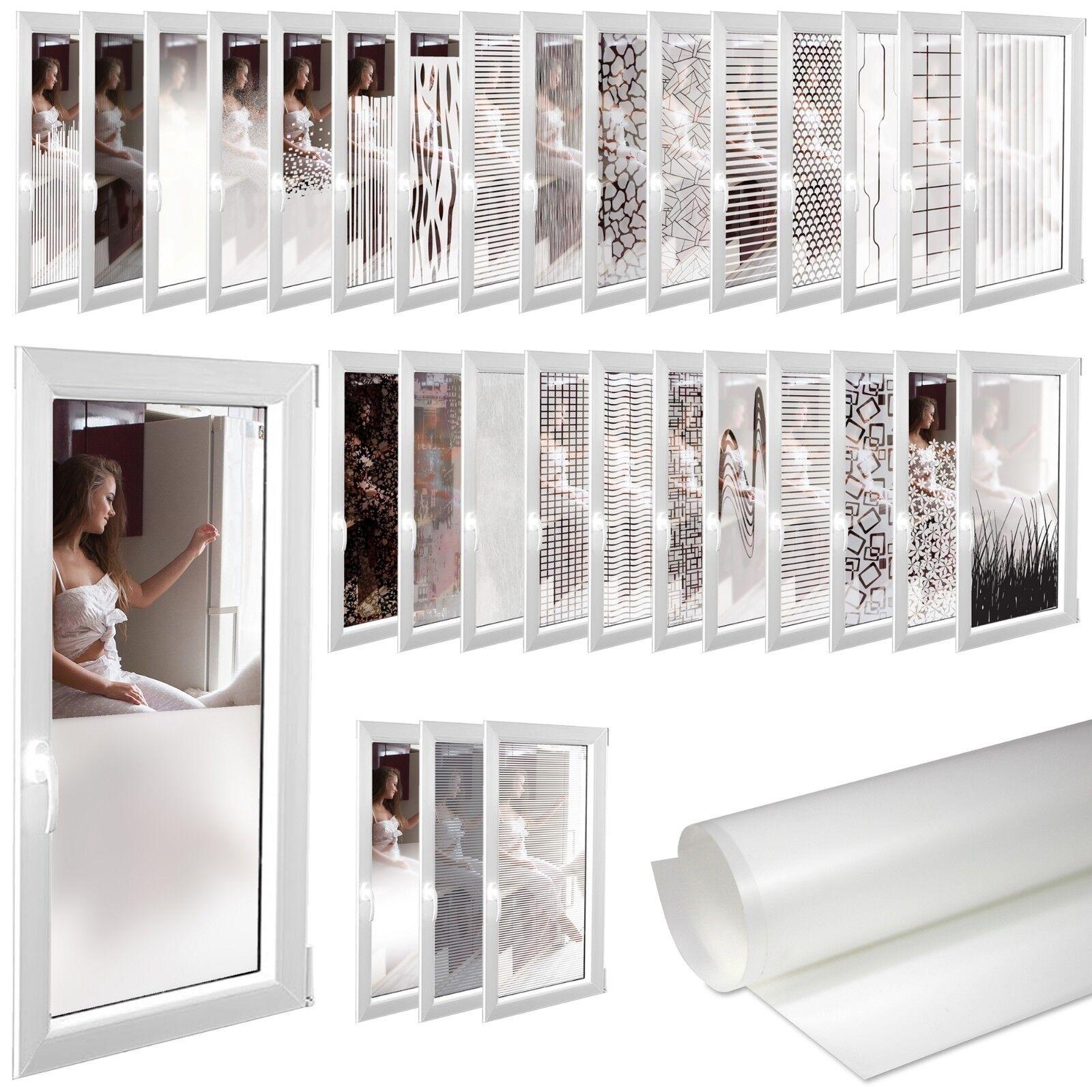 6,5€/m² Milchglasfolie Sichtschutzfolie Fensterfolie Folie Fenster Selbstklebend