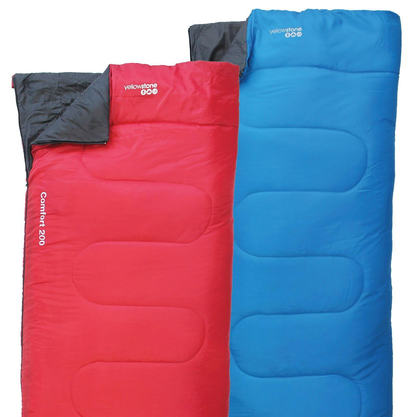 YELLOWSTONE SLEEPING BAG COMFORT 200 LIGHTWEIGHT ADULT ...
