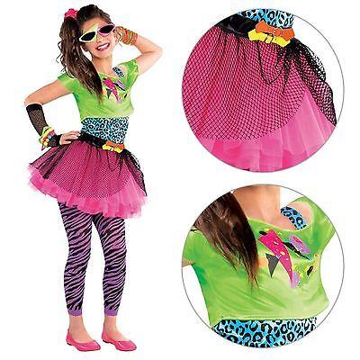 Neon Teen Party Retro 80s Jahre Bunt Mädchen Teen Kostüm Party