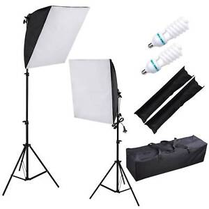 2x135W Photography Soft Box Softbox Light Stand Kit Continuous L Doveton Casey Area Preview