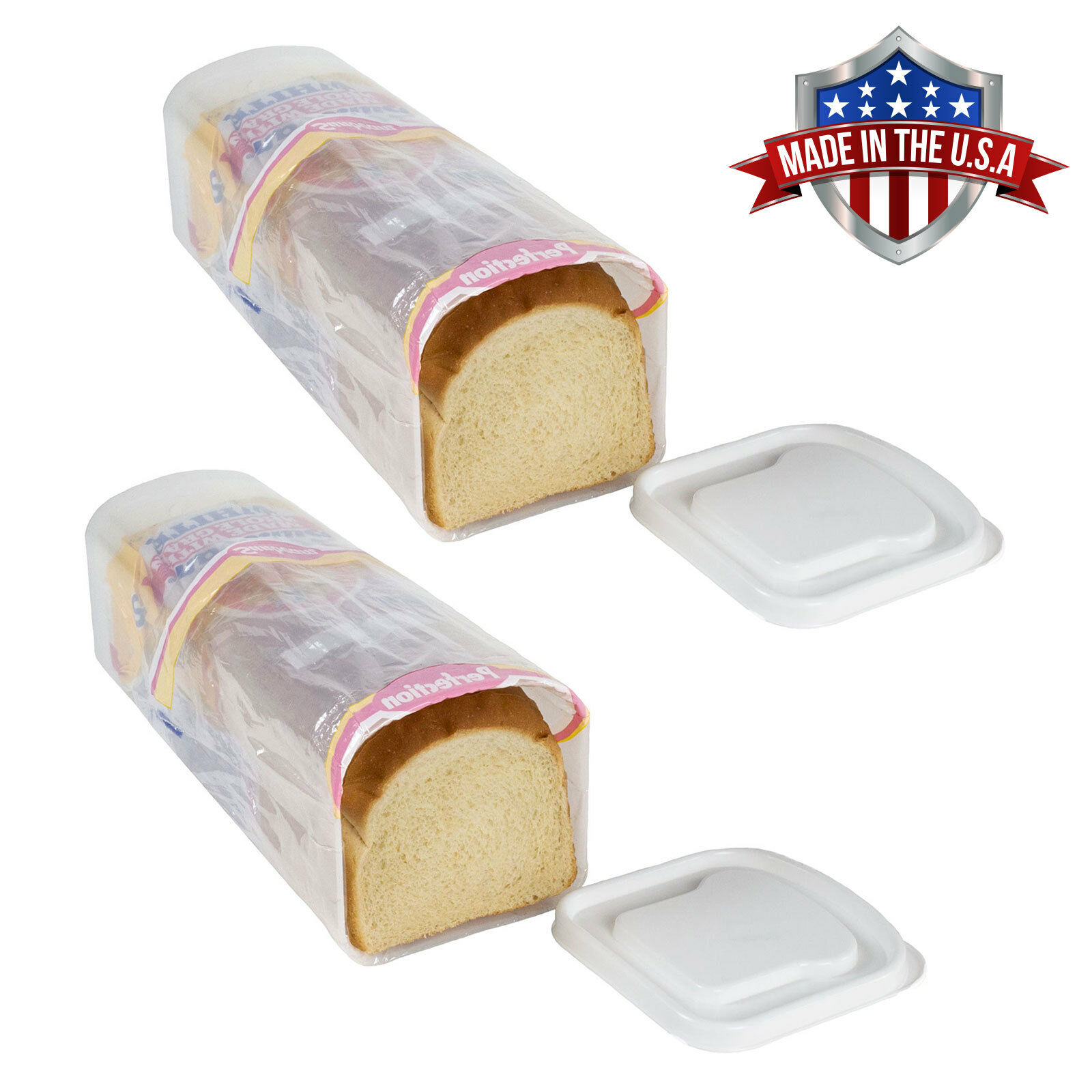 2 Pack Bread Keeper Holder Travel Sandwich Bread Box Crush-Proof Containers Food Storage Containers
