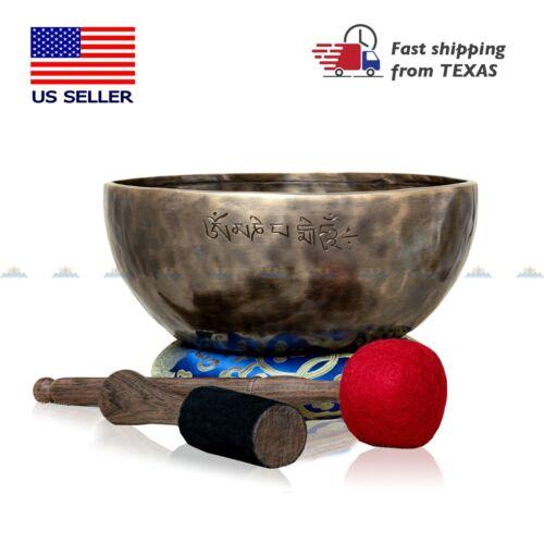 """10 """" Premium Master Healing Singing Bowl Set ~ Meditation Sound bowl/Healing !!"""