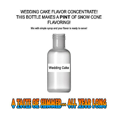 WEDDING CAKE SHAVED ICE Flavor BEST CONCENTRATE #1- FOR PINT SIZE