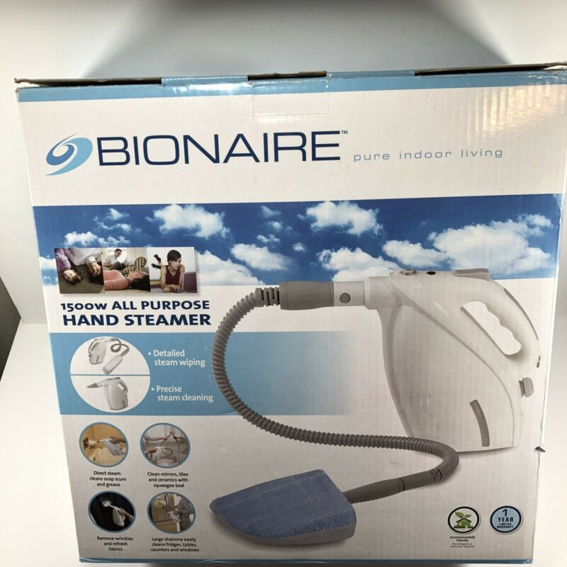 Bionaire 1500W All Purpose Hand Steamer Cleaner  Household Portable & Accessory