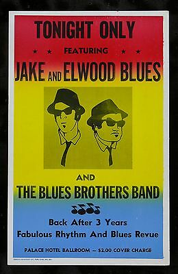 BLUES BROTHERS ✯ CineMasterpieces ORIGINAL PROP MOVIE POSTER JOHN BELUSHI 1980
