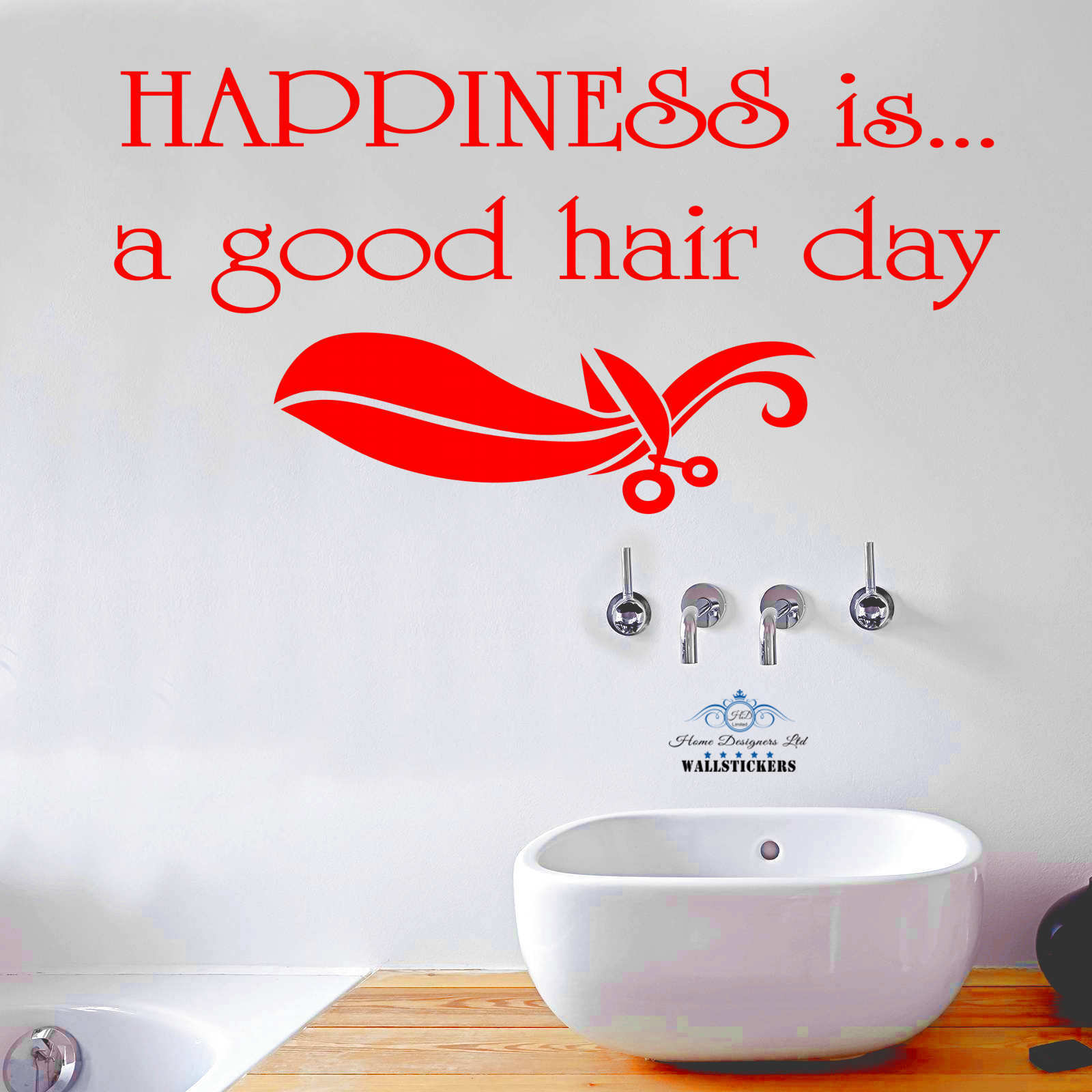 wall decals quote happiness is a good hair day hairdressing salon item description