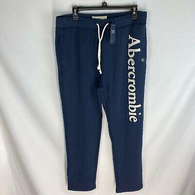 Abercrombie Navy Blue Sweatpants Men's NWT Size Large L