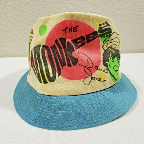 The Monkees 1966 STA-WELL Rare Vintage Roll-Up Hat Medium - Excellent Condition