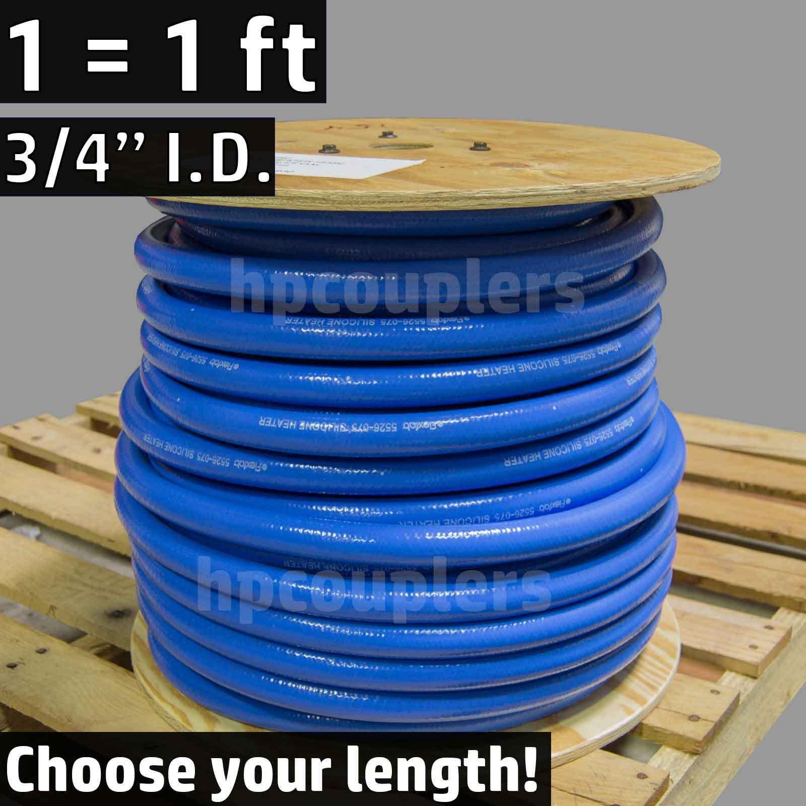"""3/4"""" ID FlexFab 5526 Blue Silicone Heater Hose 19mm 350F Radiator Coolant .75"""""""