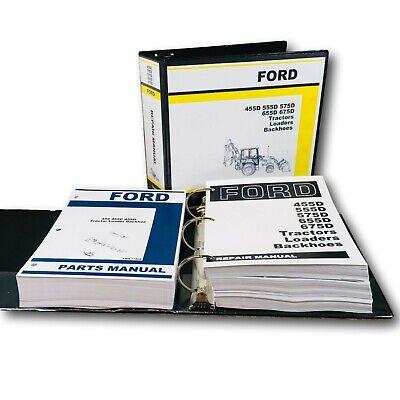 Ford 455d Tractor Loader Backhoe Service Manual Parts Catalog Repair Overhaul